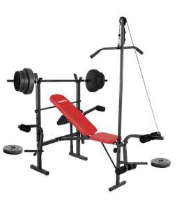 Banco de pesas con disco de pesas