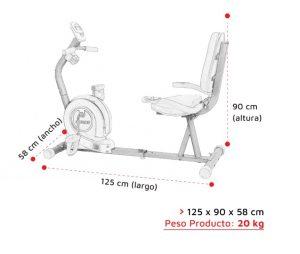Medidas bicicleta fija horizontal