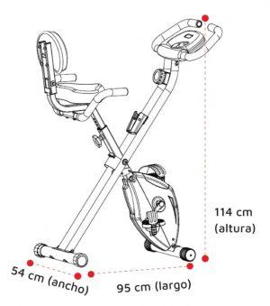 Medidas bicicleta fija