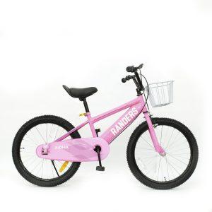 Bicicleta color rosa con canasto