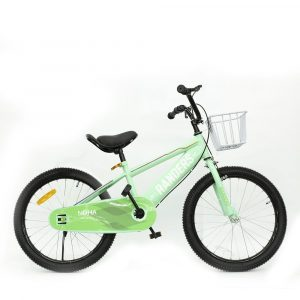 Bicicleta color verde con canasto