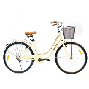 bicicleta de paseo color beige